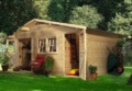Woodfeeling Radur 0 Gartenhaus, naturbelassen